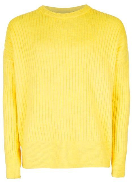 Topman Yellow Ribbed Drop Shoulder Sweater | Where to buy & how to ...