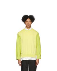 Issey Miyake Men Yellow Knit Sweater
