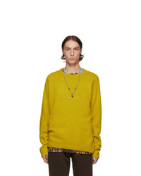 Dries Van Noten Yellow Merino And Cashmere Sweater