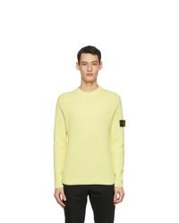 Stone Island Yellow Rib Knit Sweater