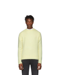 Acne Studios Yellow Wool And Cashmere Peele Sweater