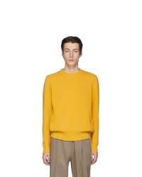 Etro Yellow Wool Crewneck Sweater