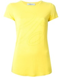 Yellow crew neck t shirt original 1313079