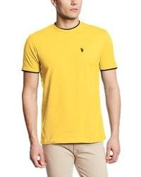 Yellow Crew-neck T-shirt