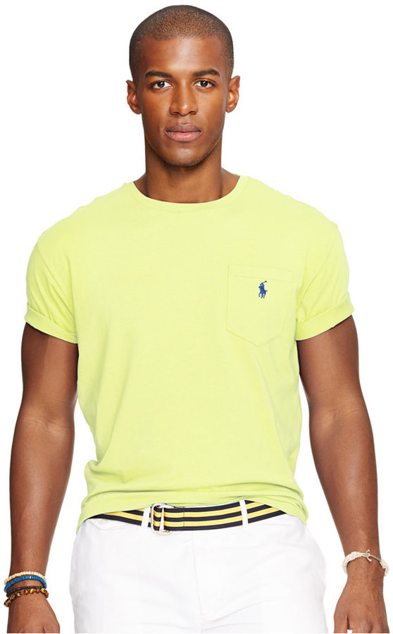 39895ad1c Polo Ralph Lauren Classic Fit Jersey Pocket T Shirt, $39 | Macy's ...