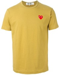 Comme des Garcons Comme Des Garons Play Embroidered Heart T Shirt