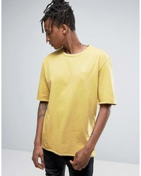Puma Distressed Oversized T Shirt In Yellow To Asos 57530702