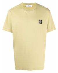 Stone Island Logo Patch Cotton T Shirt