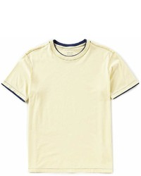 Roundtree & Yorke Soft Washed Short Sleeve Solid Double Crew Neck T Shirt