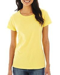 St Johns Bay St Johns Bay Essential Relaxed Fit Short Sleeve Crewneck T Shirt Petite