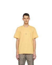 MSGM Yellow Micro Logo T Shirt