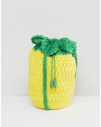 Asos Beach Crochet Pineapple Cross Body Bag