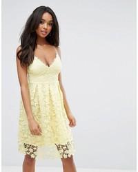 Yellow Crochet Midi Dress