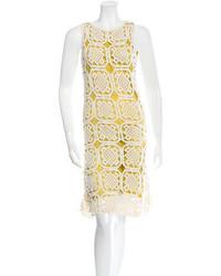 Yellow Crochet Tank Dress