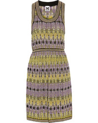M Missoni Crochet Knit Cotton Blend Dress