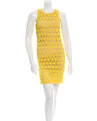 Diane von Furstenberg Crocheted Mini Dress