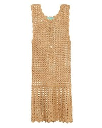 Melissa Odabash Rosie Metallic Crochet Dress