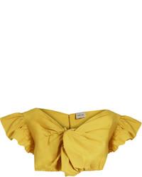 Rachel Comey Crush Cotton Poplin Cropped Top