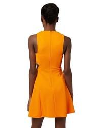7262f7b467e1 ... Topshop Cutout Ribbed Skater Dress Size 10 Us Yellow