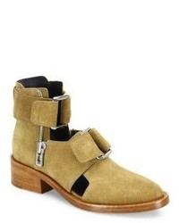 3.1 Phillip Lim Addis Cutout Suede Booties
