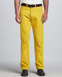 Yellow dress pants men