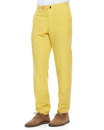 Incotex Straight Leg Chino Pants Yellow | Where to buy & how to wear