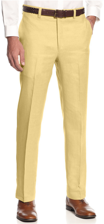 0026cd7387 ... Lauren Ralph Lauren Solid Linen Dress Pants ...