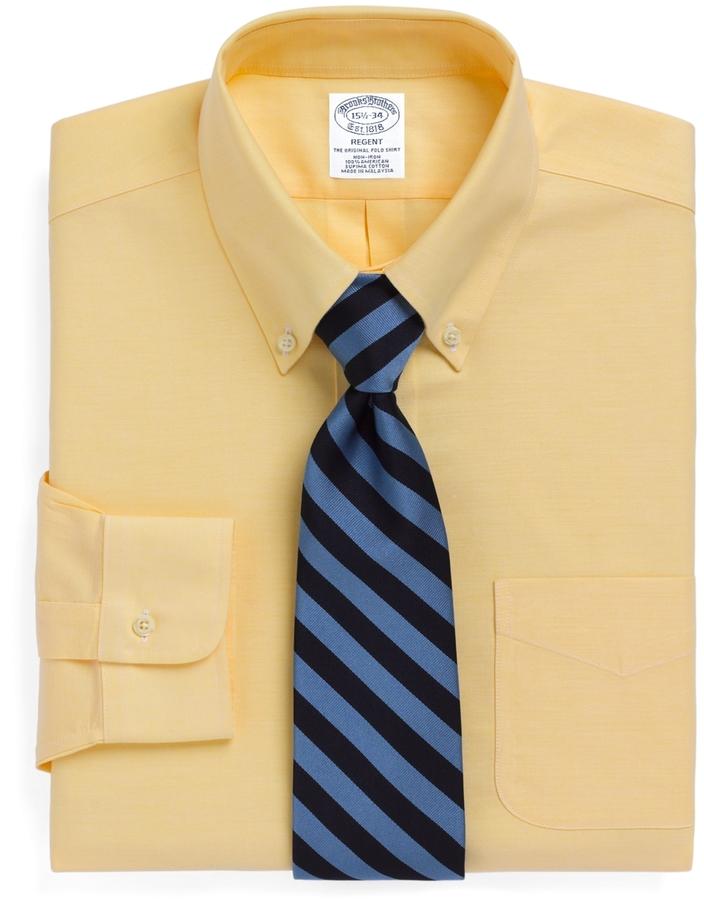 Collar Dress Shirt Yellow