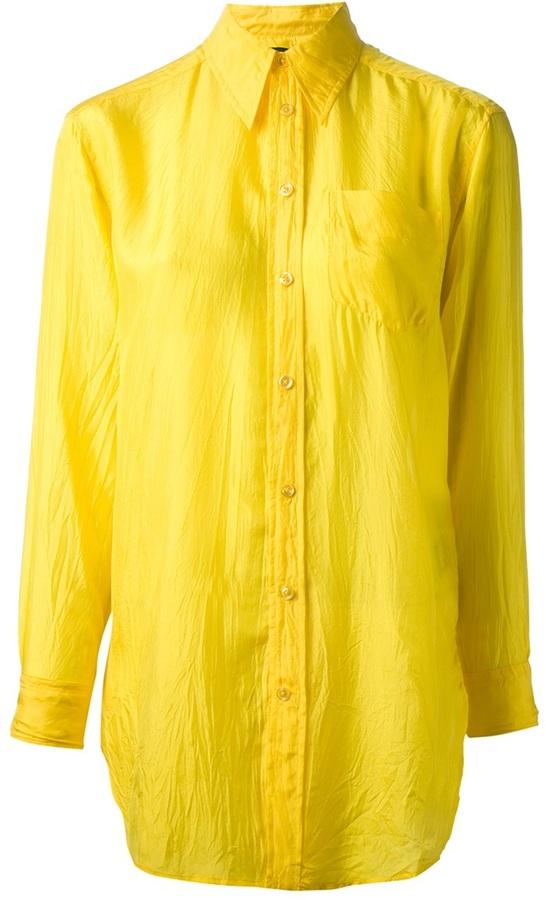 Ralph Lauren Blue Oversize Crease Shirt