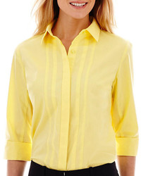 jcpenney Worthington 34 Sleeve Button Front Shirt