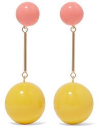 J.W.Anderson Gold Tone Resin Earrings Yellow
