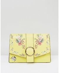Asos Hero Floral Embroidered Shoulder Bag
