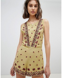 Free People Embroidered Playsuit