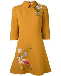 Vivetta floral embroidered shift dress medium 886647