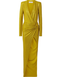 Alexandre Vauthier Draped Crystal Embellished Stretch Tte Gown