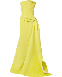 Maticevski Opera Strapless Gathered Cady Gown