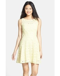 Yellow fit and flare dress original 11316321