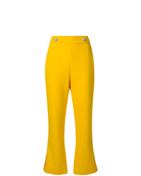 MSGM Cropped Bootleg Trousers