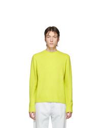 Acne Studios Yellow Peele Crewneck Sweatshirt