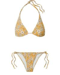 Lisa Marie Fernandez Pamela Floral Print Stretch Crepe Triangle Bikini