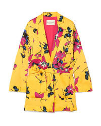 Yellow Floral Blazer