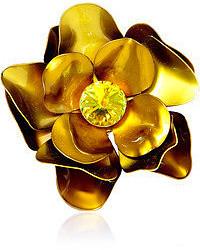 Carole Tanenbaum Vintage Metal Flower Pin