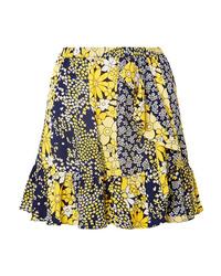 MICHAEL Michael Kors Ruffled Floral Print Chiffon Mini Skirt