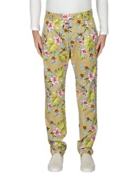 Yellow Floral Chinos