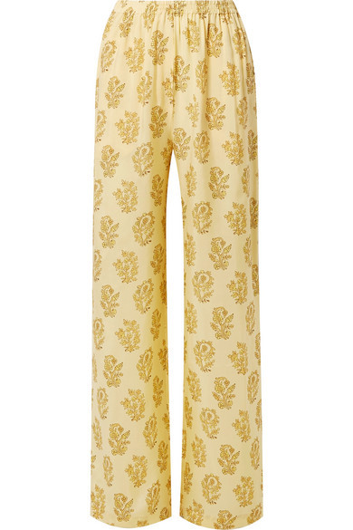 89ddba3156 $500, Acne Studios Pernelle Floral Print Twill Straight Leg Pants