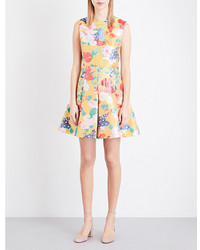 Valentino Floral Jacquard Mini Dress