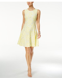 Tommy Hilfiger Floral Lace Fit Flare Dress