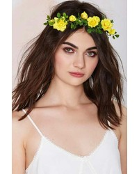 Nasty gal factory gardenhead remember me floral crown medium 238856