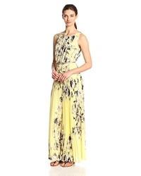 Pleated floral maxi dress medium 219138