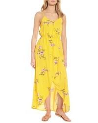 Love, Fire Strappy Surplice Maxi Dress
